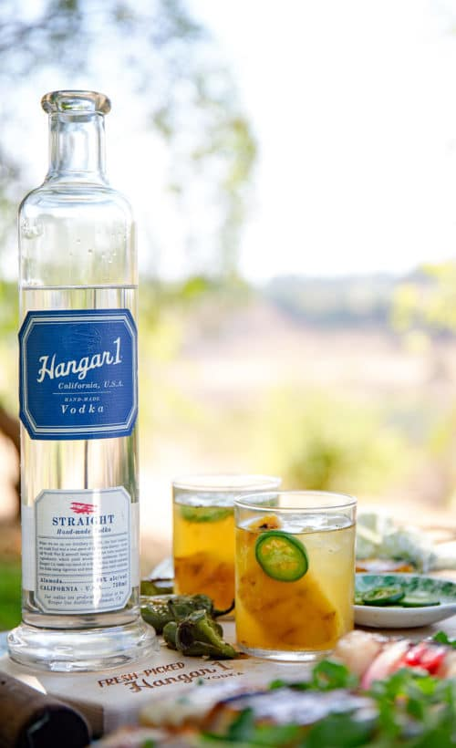 Hangar One Grilled Pineapple & Jalapeño Caipiroska Recipe