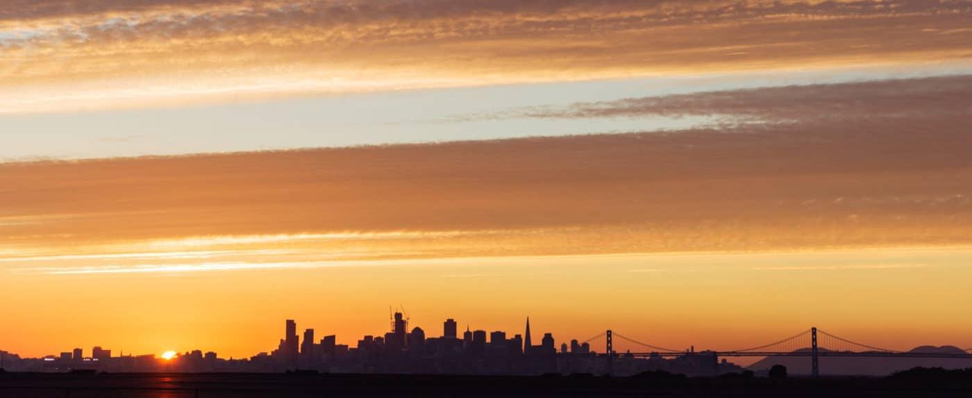San Francisco Skyline from Hangar One