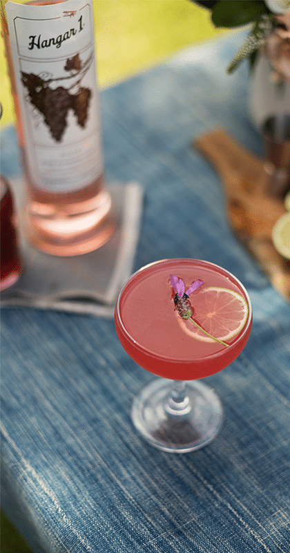 Hangar One Rosé Raspberry Spritzer Recipe