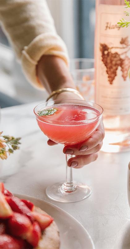 Hangar One Rosy Rhubarb Mule Recipe