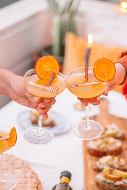 Hangar One Spiced Honey Orange Blossom Cocktail